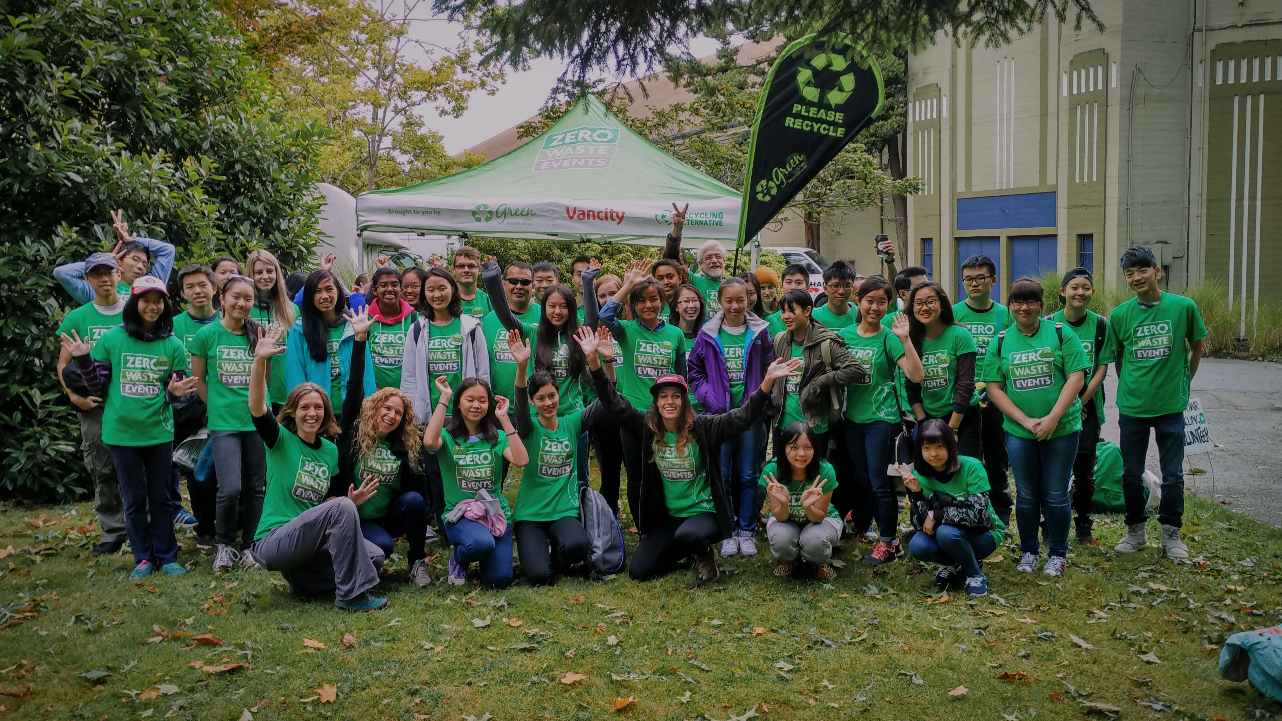 Volunteer With Green Chair